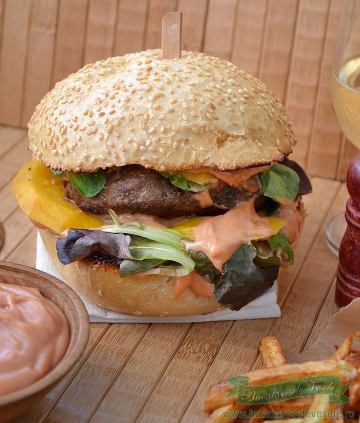 Hamburger cu Mango