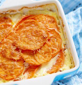 Cartofi dulci gratinaţi