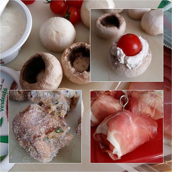 Ciuperci Pane Umplute cu Branza