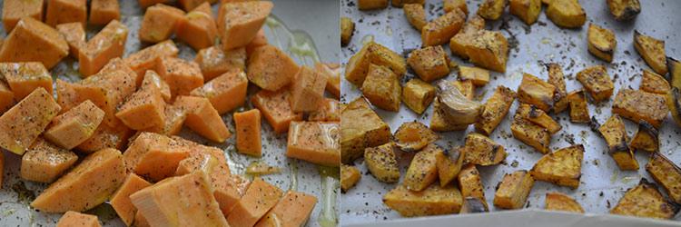 Quesadilla cu fasole rosie si cartofi dulci