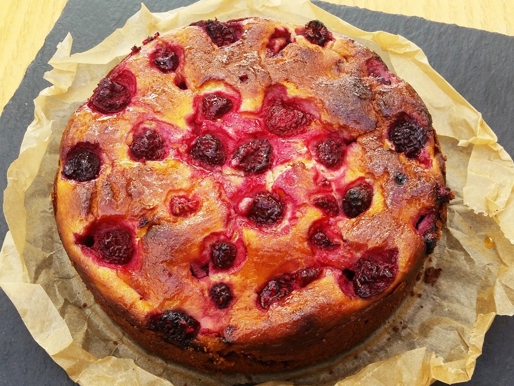 Cheesecake cu zmeura si branza ricotta
