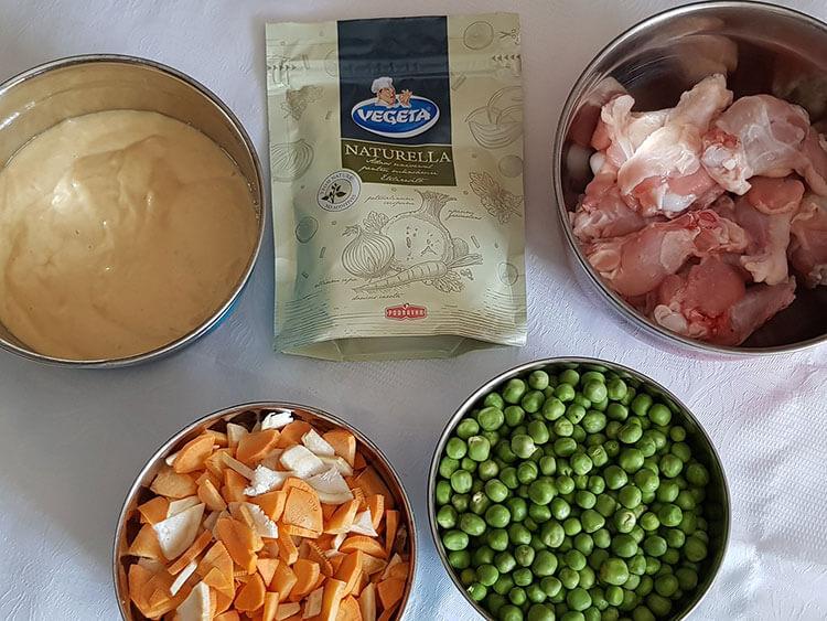 Supa de mazare cu galuscute