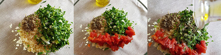 Salata Tabbouleh preparare