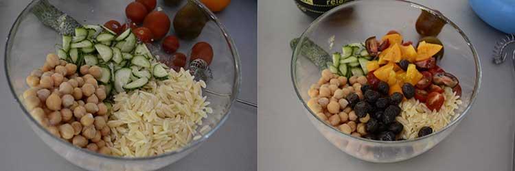 salata cu paste orzo