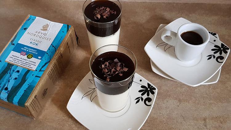 Jeleu cu Cafea si Lapte