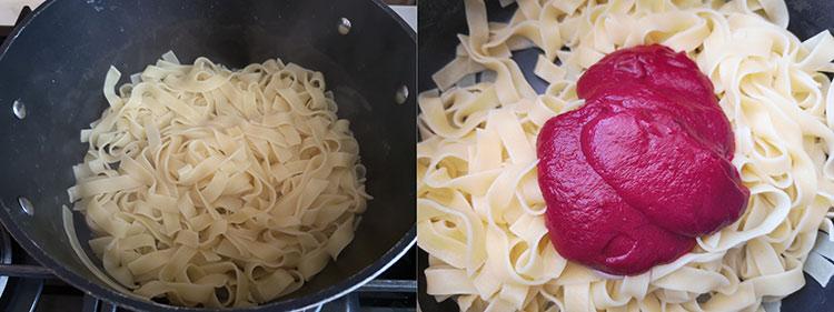 preparare paste cu sfecla
