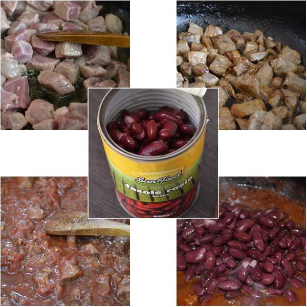 Chilli con carne cu paine de porumb