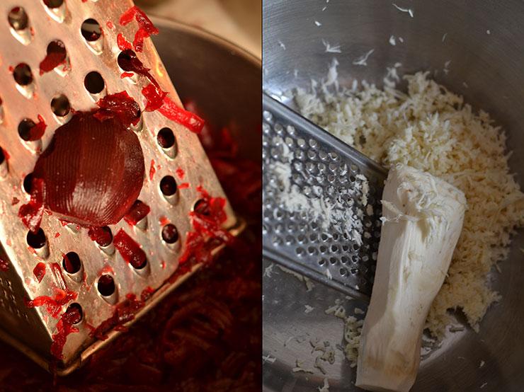 Salata de sfecla rosie cu hrean la borcan
