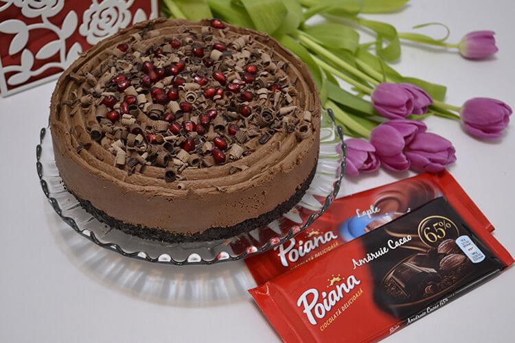 Cheesecake cu ciocolata, fara coacere
