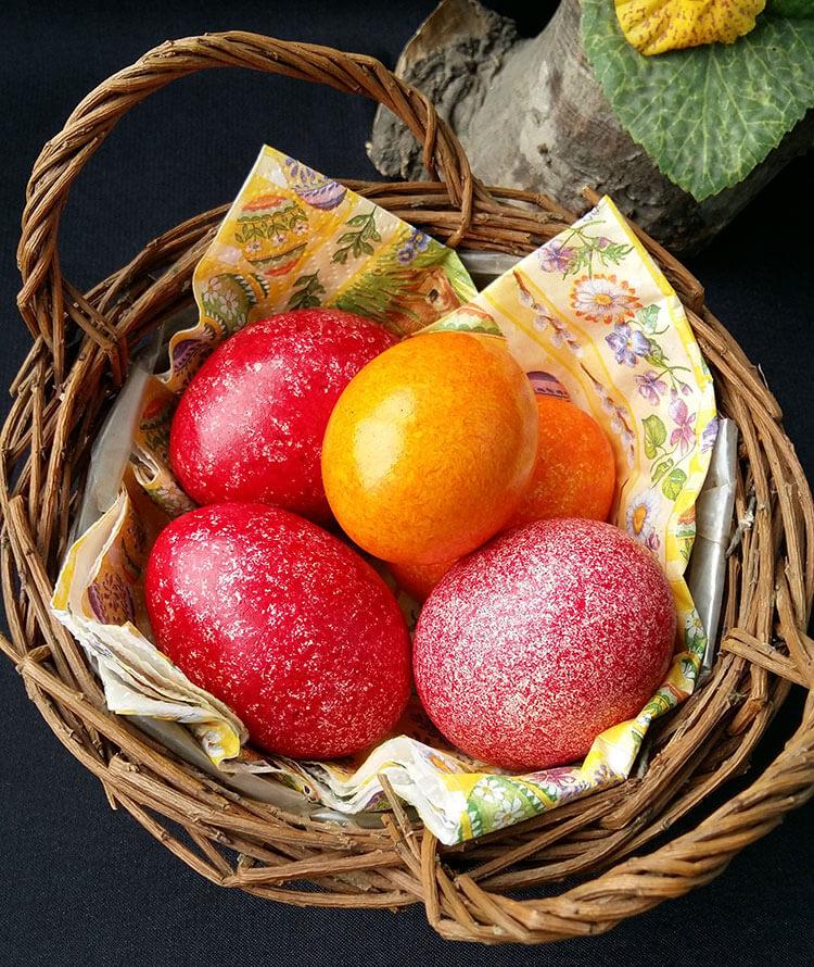 Oua vopsite cu orez