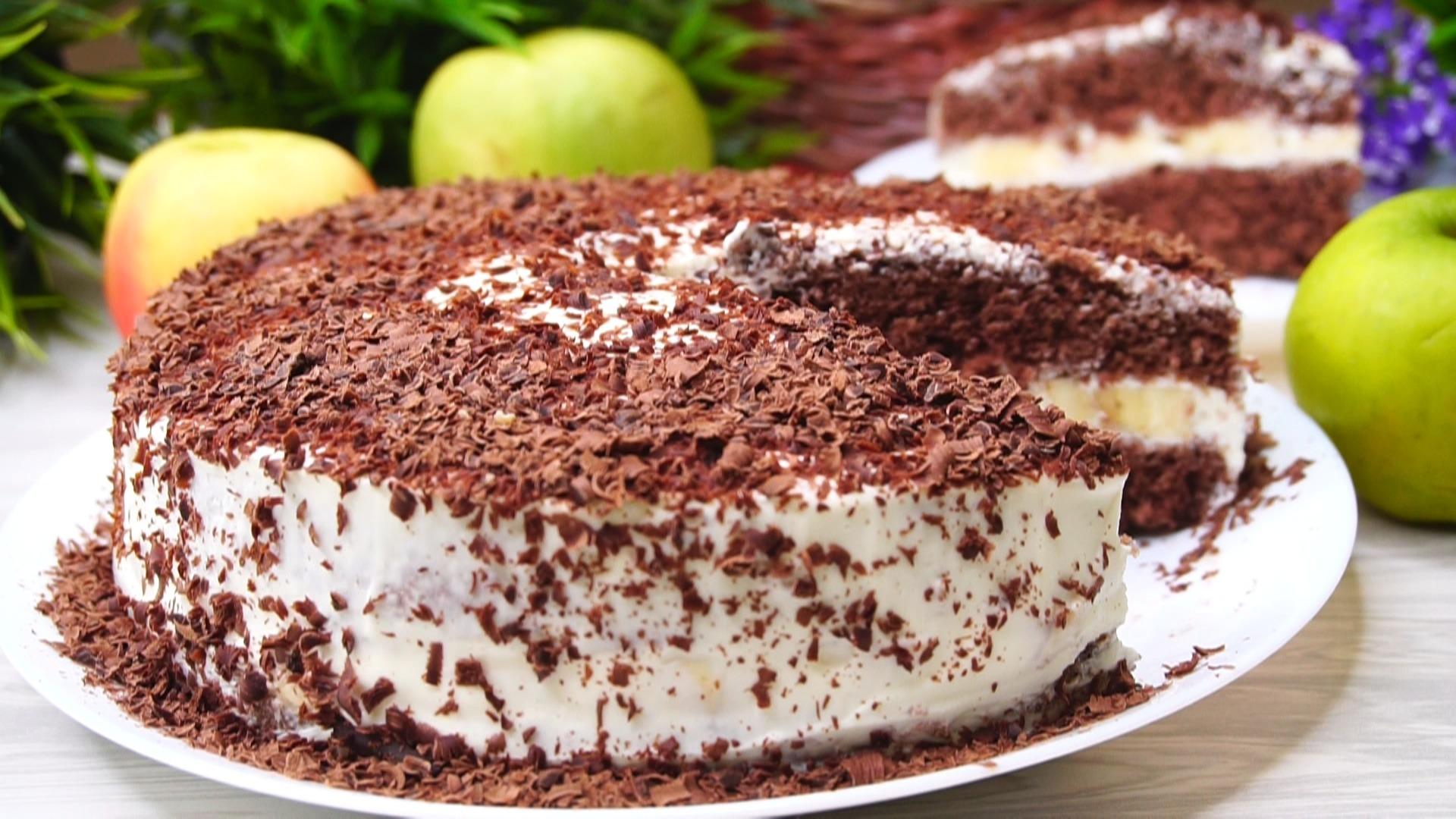 Tort rapid cu banane si ciocolata