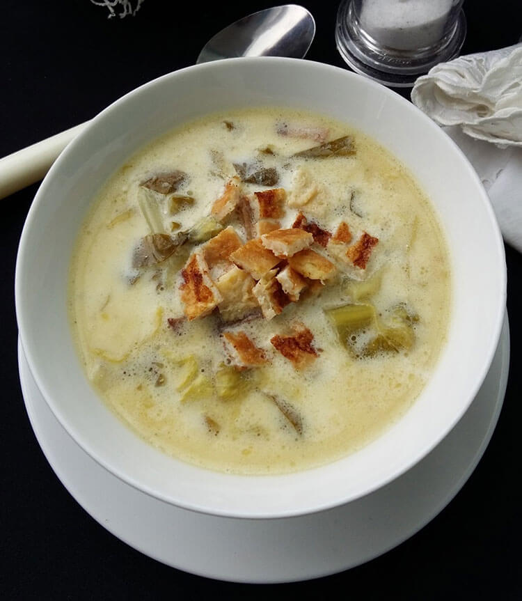 Zama de salata verde cu omleta
