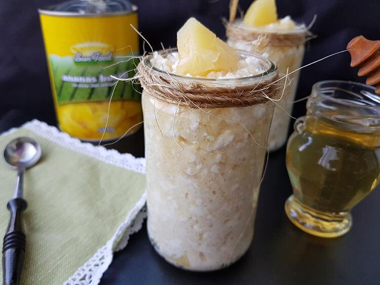 Couscous dulce cu branza si ananas