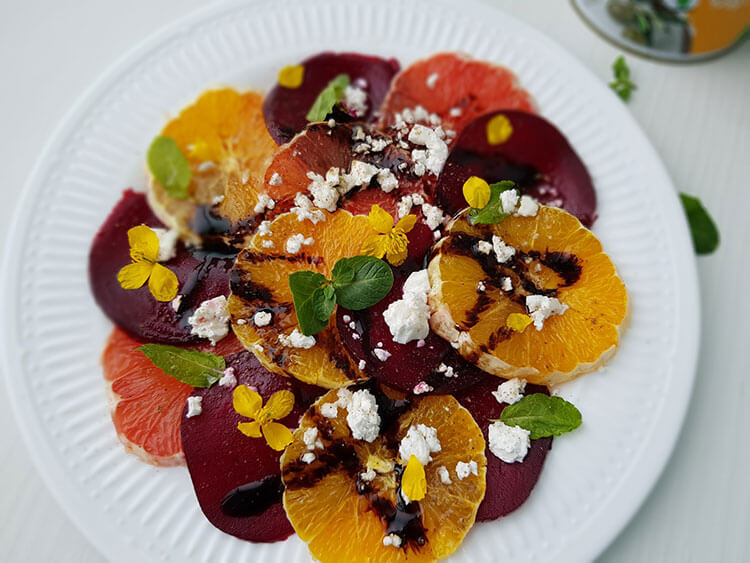 Salata de portocale cu sfecla si telemea