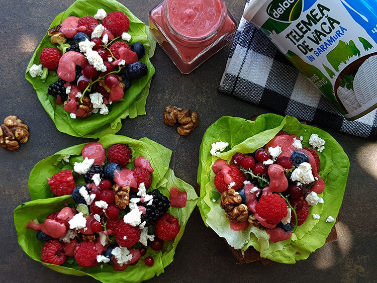 Salata de fructe cu branza