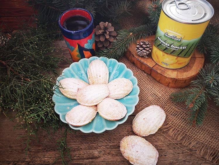 madlene cu miere si ananas