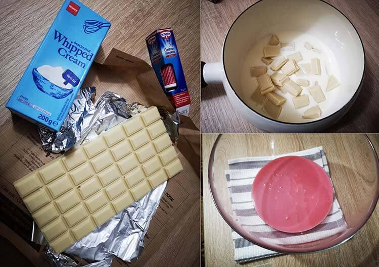 crema ganache din ciocolata alba