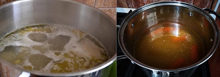 preparare supa de pui