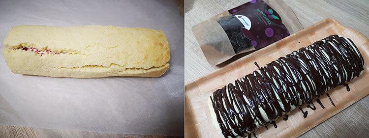 rulada cu glazura de ciocolata fara zahar