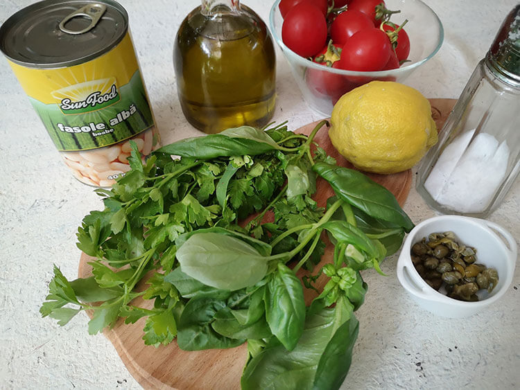 salata de fasole ingrediente