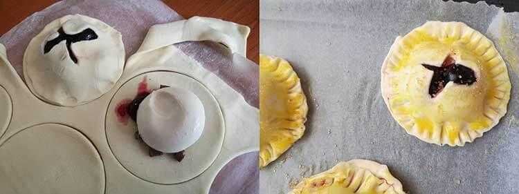 foietaj cu fructe-preparare