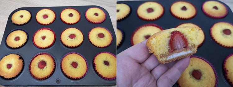 muffins cu capsune